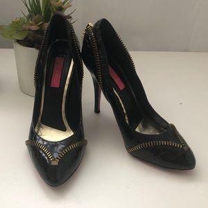 Betsey Johnson leather stilettos